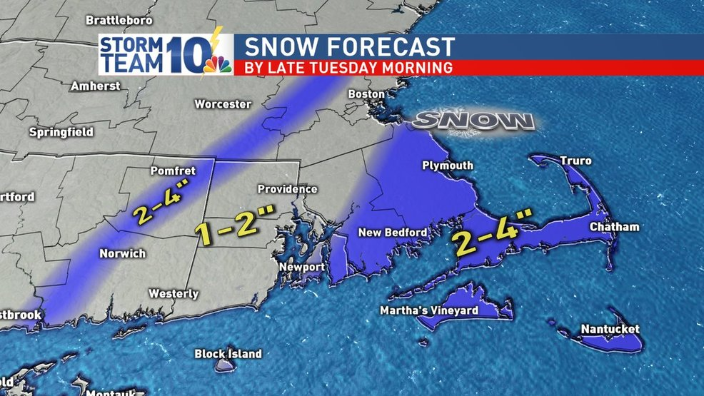 Snow overnight into the Tuesday AM commute