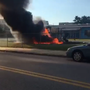 VID | Fire damages playground at East Baltimore elementary school