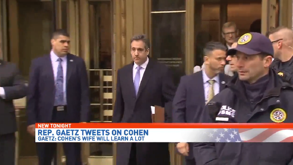 Rep  Gaetz takes to Twitter: Michael Cohen's wife is 'about to learn a