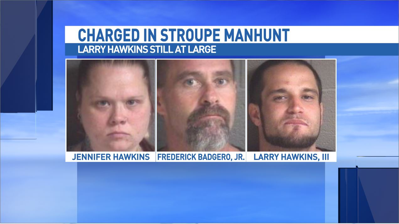 Jennifer Hawkins and her boyfriend Frederick Badgero told WLOS they and Hawkins' nephew, Larry Hawkins III, did not know that Stroupe was wanted for the kidnapping of Bryson when he knocked on their door Wednesday. (WLOS)