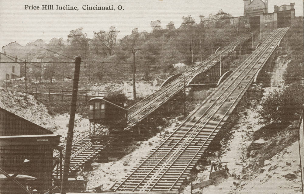 Understanding the elevation and its relatively short length, the Price Hill Incline was the steepest of the bunch. / Image courtesy of the Public Library of Cincinnati and Hamilton County // Published: 1.2.19