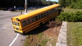 School bus runs off Tower Hill Road in South Kingstown