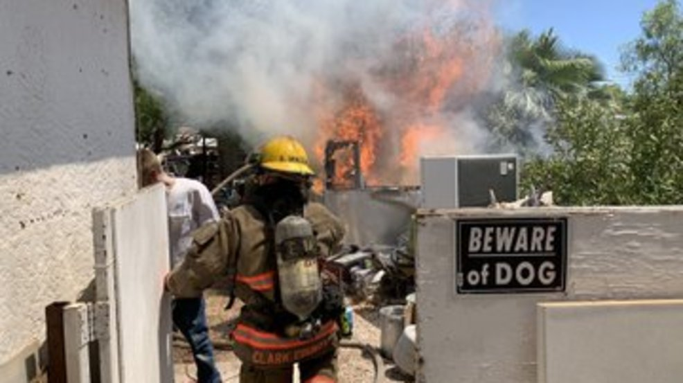 Travel trailer goes up in flames near Bruce, Charleston