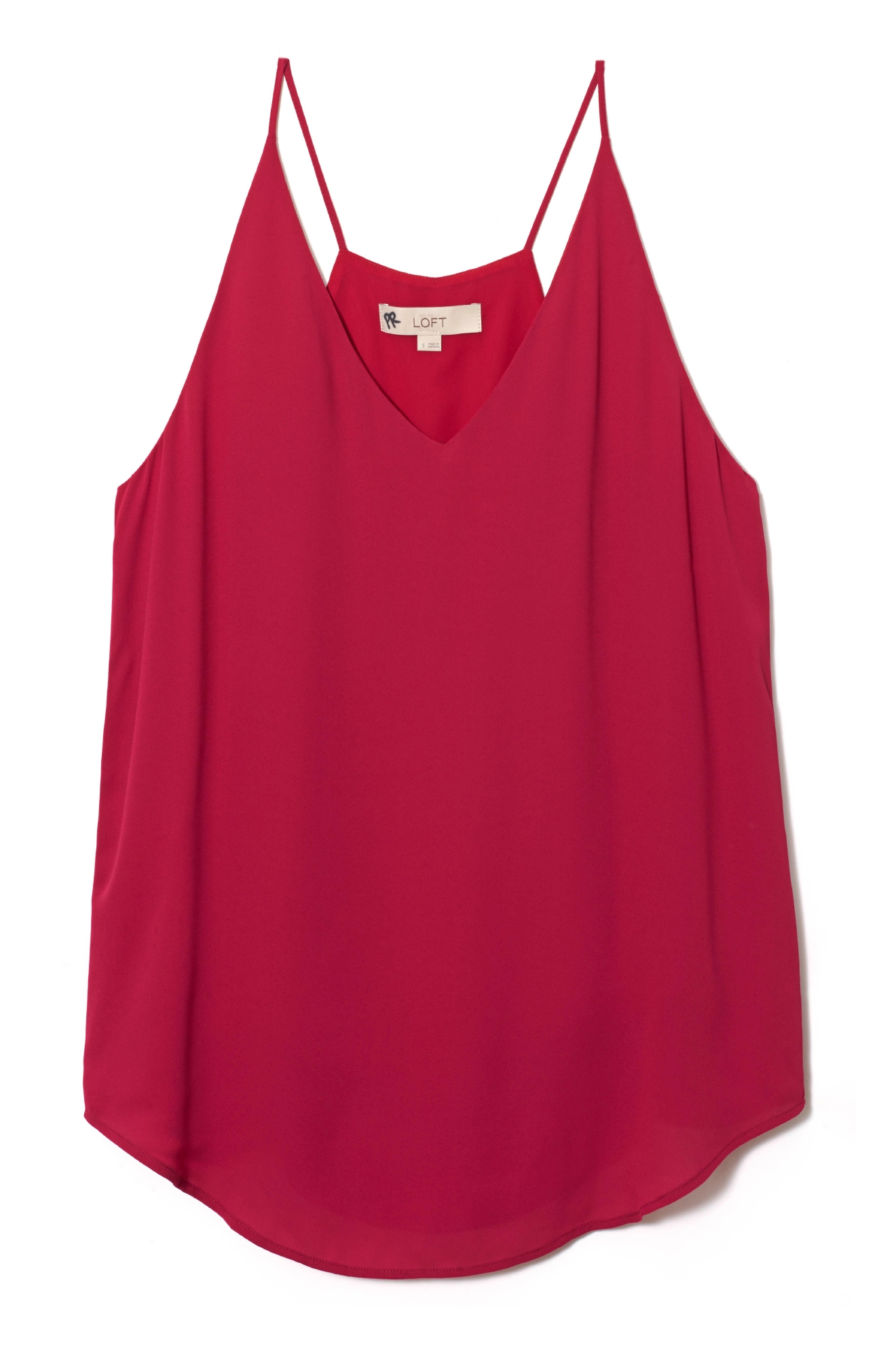 LOFT Red V-Neck Tank Top $39.50 (LOFT)