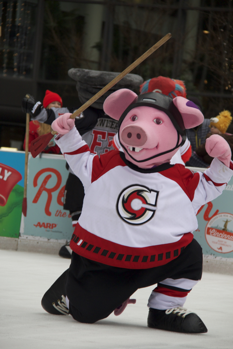 Fountain Square's 7th annual Mascot Broomball event took place on Saturday, January 14. / Image: Dr. Richard Sanders