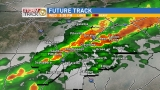 Tracking severe storms-tornado threat increasing