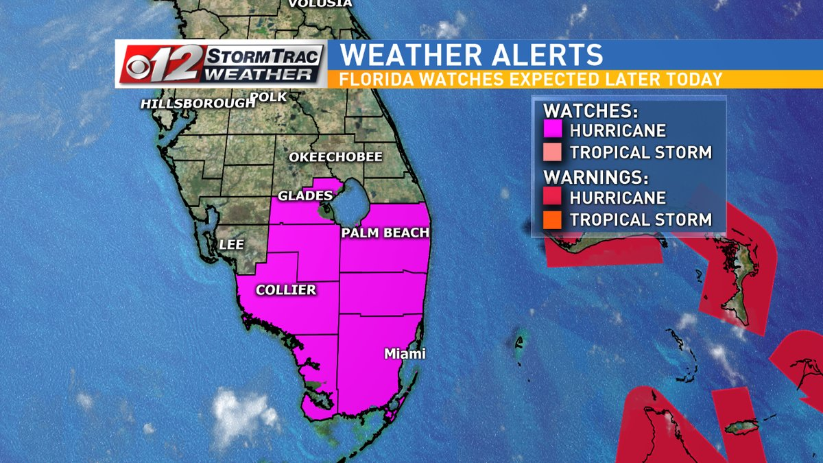 Palm Beach County is under a hurricane watch due to Hurricane Irma. (WPEC)