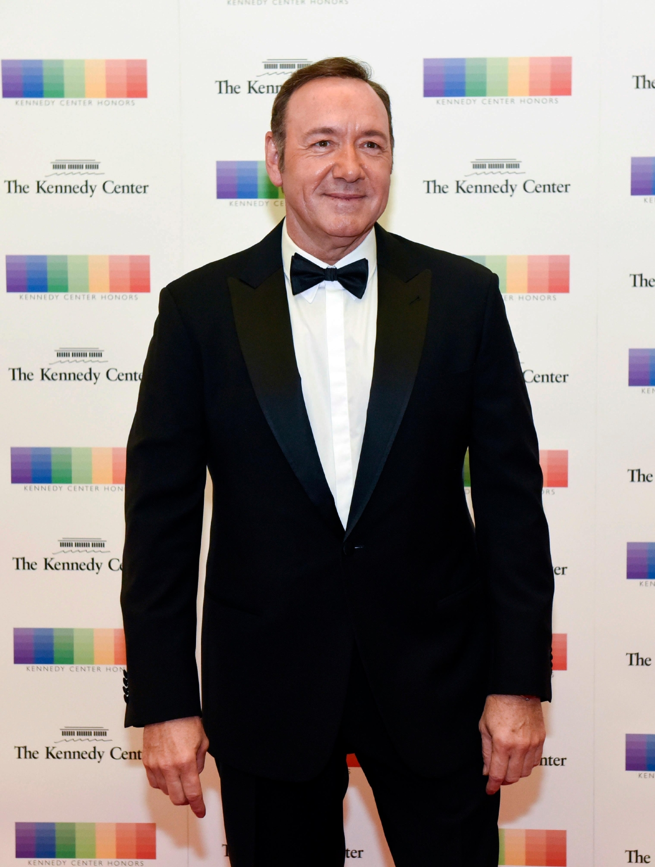 Actor Kevin Spacey arrives at the State Department for the Kennedy Center Honors gala dinner on Saturday, Dec. 3, 2016, in Washington. (AP Photo/Kevin Wolf)