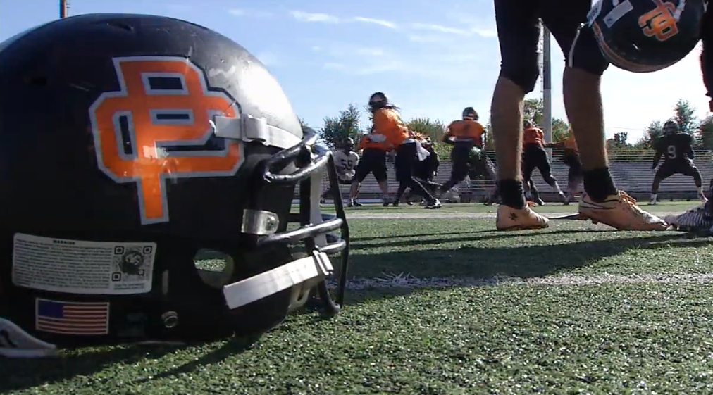 The Putnam City Pirates practice before meeting Stillwater Pioneers during week 9 of high school football in Oklahoma. (KOKH)