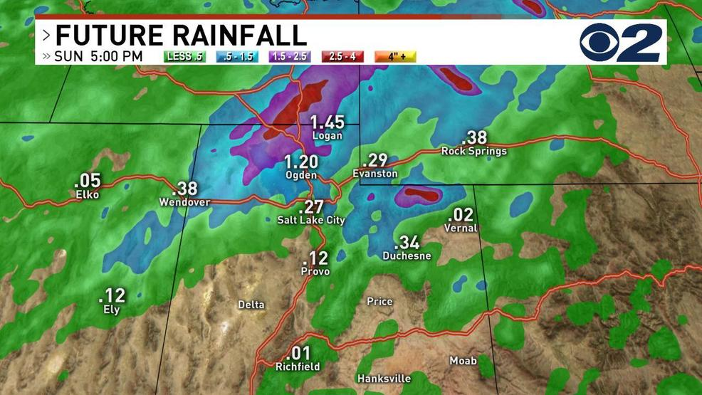 Showers, thunderstorms travel across northern Utah; high ...