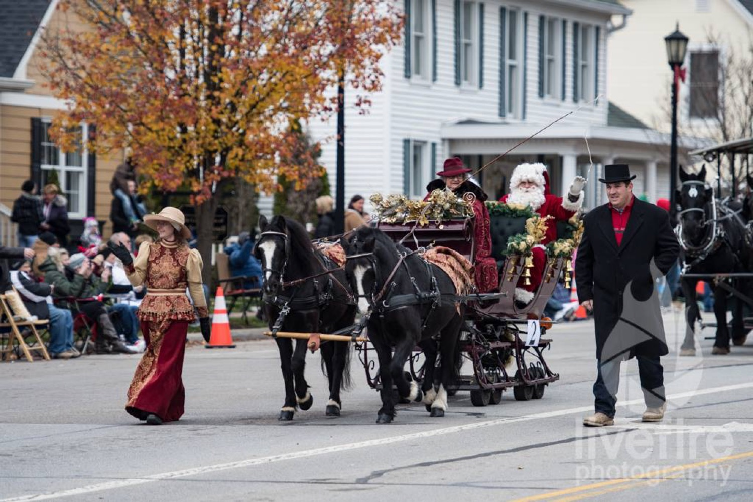 Highlights of Lebanon's holiday event calendar include a ride on the North Pole Express with Santa, a live nativity, dinner at the Golden Lamb, and a rendition of Charlie Brown Christmas. / Image: Curt McAdams