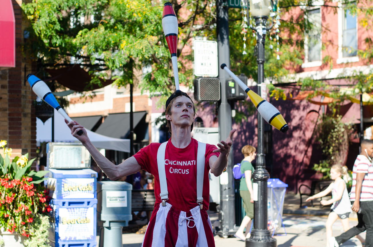 Spencer Ream, Cincinnati Circus juggler / Image: Kellie Coleman // Published: 10.7.18