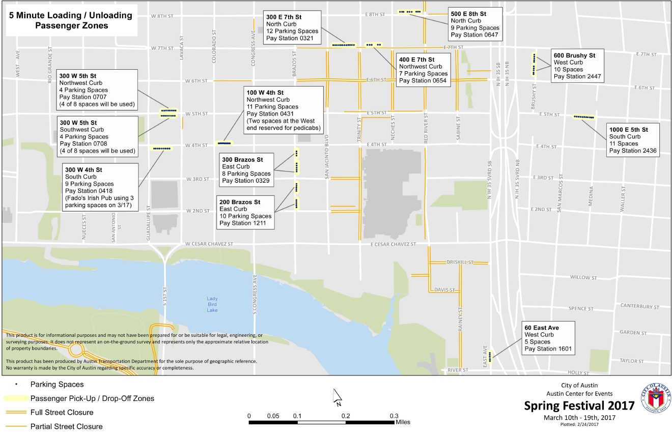 List of street closures released for SXSW  KEYE