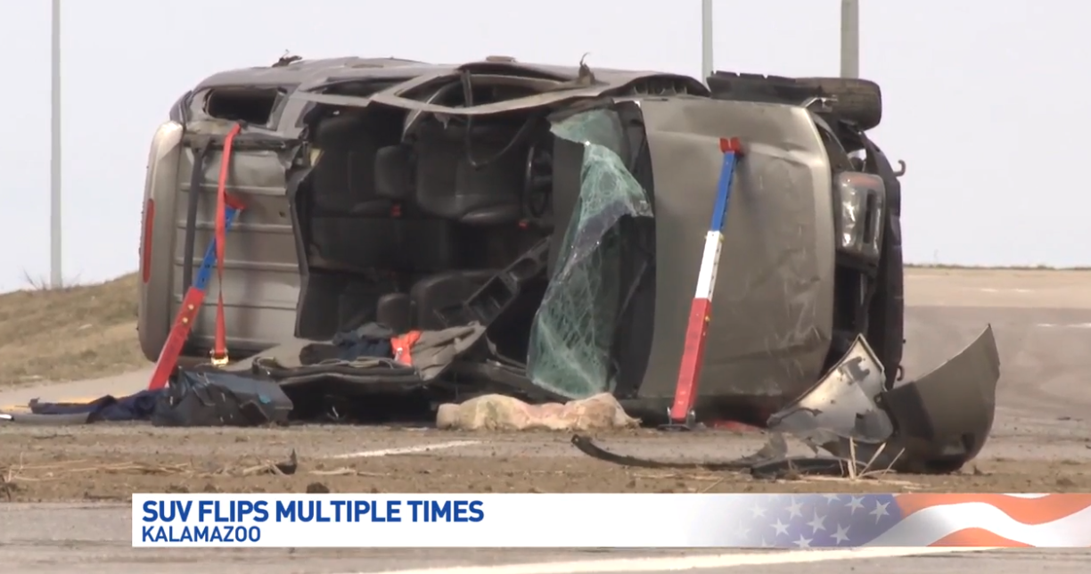 A 31-year old man was send to Bronson Hospital with serious injuries after officials believe he lost control and flipped his vehicle multiple times from the freeway onto the exit ramp near Sprinkle Road of Interstate 94 in Kalamazoo, Kalamazoo Department of Public Safety confirms.