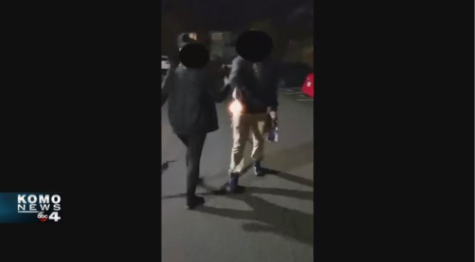 The man had a confrontation in an apartment complex before the police chase and shooting. This is a still from a video.<p></p>