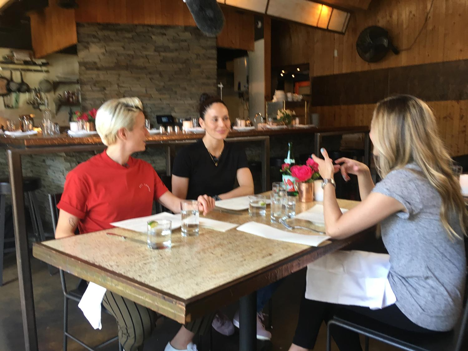 Refined met up with the couple and got a chance to talk food, fame and future at Ethan Stowell's restaurant How to Cook a Wolf (which Bird picked because she said the food was bomb). Spoiler Alert: she was right. (Image: Breanna Fee / Seattle Refined)