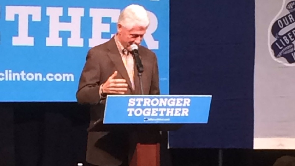President Bill Clinton visited Indianola today to campaign for Hillary ...