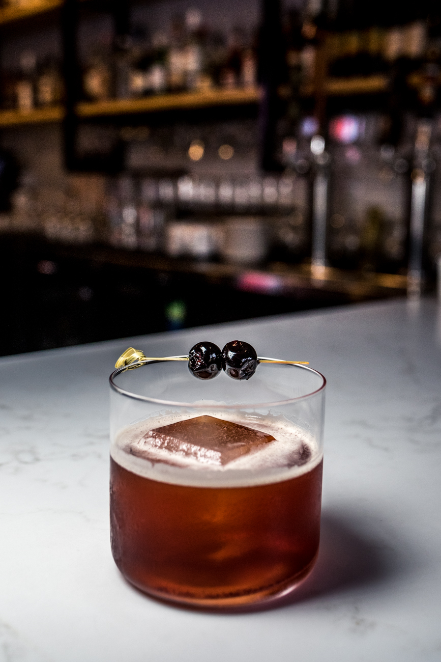 Malone And Hyde: bourbon, Carpano Antica, Big Red simple syrup, and orange bitters / Image: Catherine Viox{ }// Published: 7.3.20