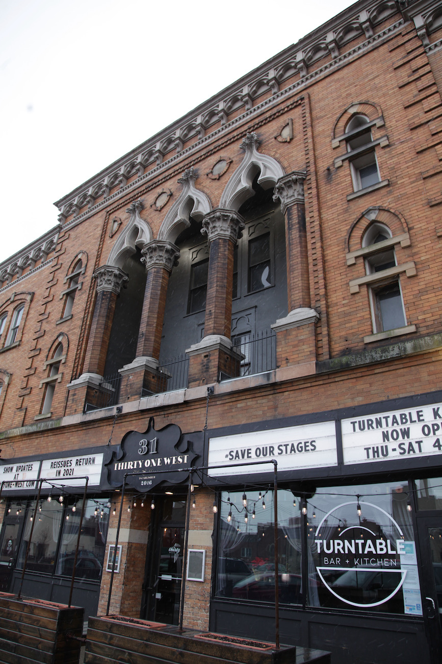 This is the striking facade of Newark's live music venue Thirty One West. Built in 1902 (when the large number of local venues earned the town the nickname 'Little Chicago'), the space has had many lives including serving as a dance hall and meeting space for Oddfellows, a furniture showroom, and an event space. It circled back to its musical roots in 2016 when it reopened as Thirty One West. ADDRESS: 31 West Church Street, Newark, Ohio, (43055) / Image: Chez Chesak{ }// Published: 2.12.21