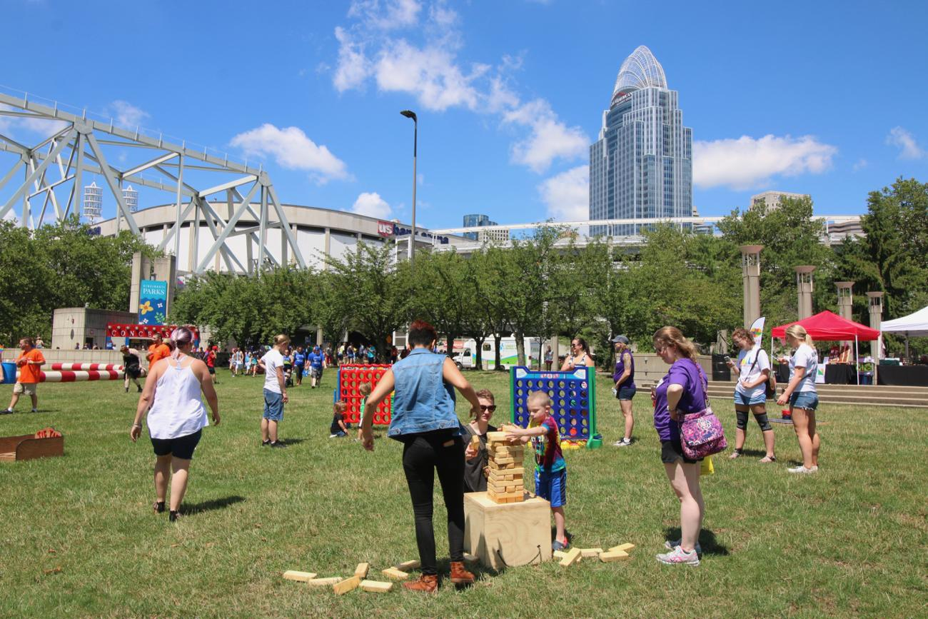 The 2017 Cincinnati Pride Festival took place on Saturday, June 24 throughout downtown. The event culminated with a party at Sawyer Point. / Image: Sharee Allen // Published: 6.25.17