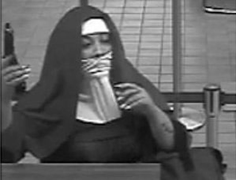 The FBI has charged two women with trying to rob a bank in Pennsylvania's Pocono Mountains while dressed as nuns. (FBI)