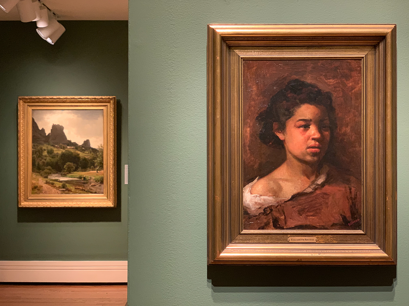 Painting on the right by Elizabeth Nourse circa early 1880s / Image: Phil Armstrong, Cincinnati Refined // Published: 10.4.20