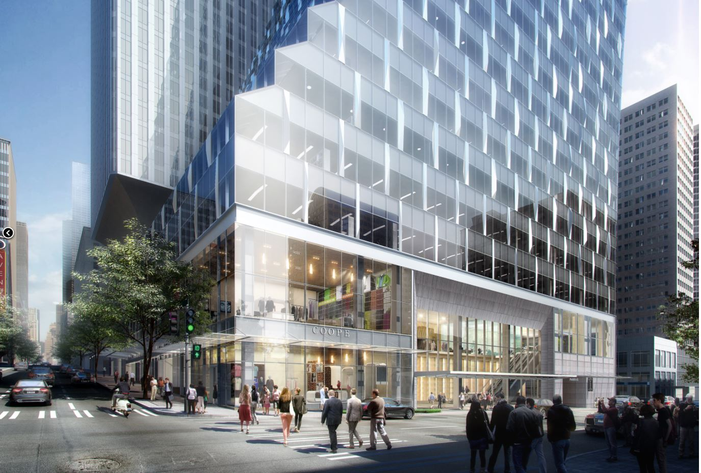Views of Rainier Square from Fifth Avenue and Union Street. (Renderings courtesy of Wright Runstad & Company)