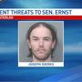 Iowa man who threatened US Sen. Joni Ernst sentenced