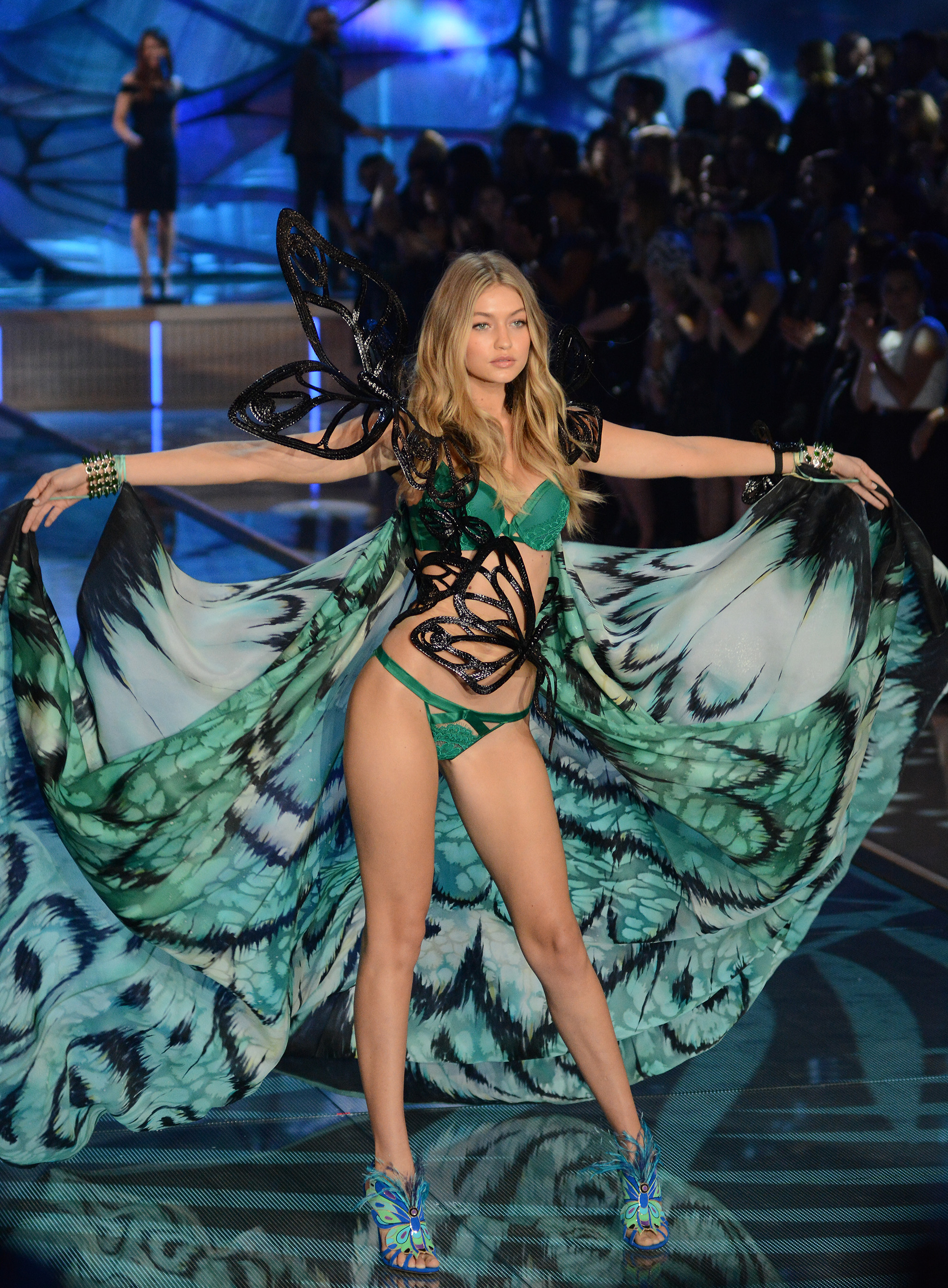 Gigi Hadid at the 2015 Victoria's Secret Fashion Show (Ivan Nikolov/WENN.com)