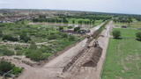 CBS4 Eye in the Sky: drone footage of flood cleanup in Socorro and Clint