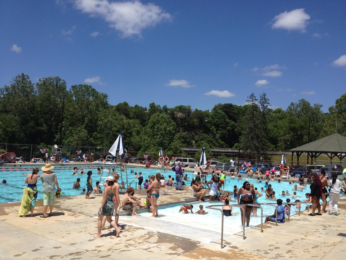 City of asheville pools opening for the summer wlos for Opening pool for summer