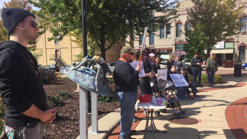 Oshkosh rally against Judge Kavanaugh