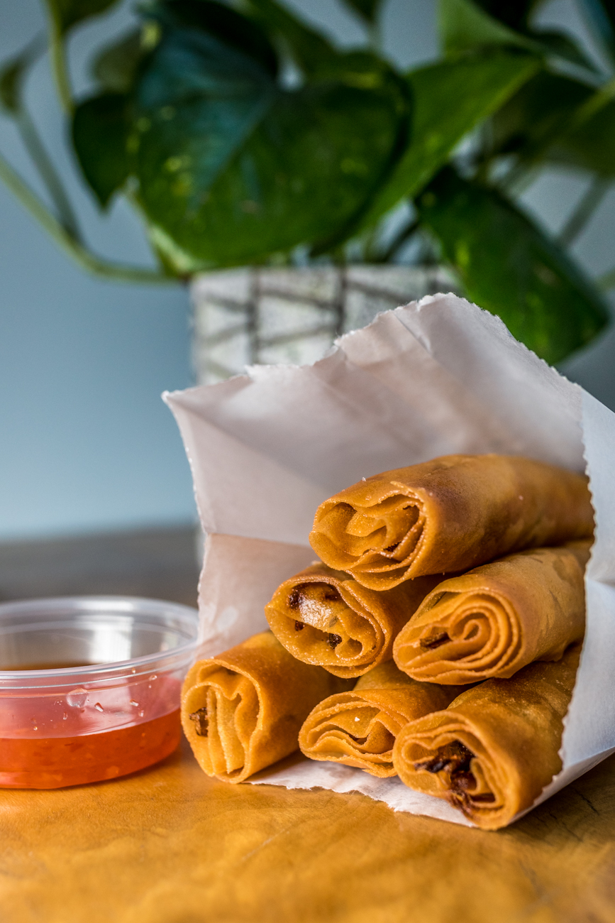 Crispy Rolls: cabbage, carrots, and sweet chili / Image: Catherine Viox // Published: 6.4.20