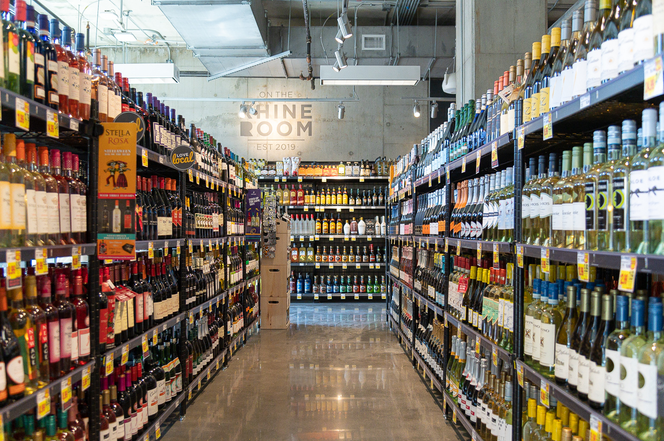 On the second floor is a beer and wine shop. / Image: Phil Armstrong, Cincinnati Refined // Published: 9.24.19