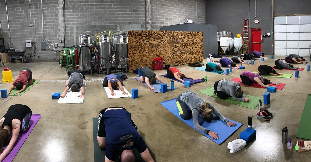 Monkey around on the mat at the Sterling brewery with a refreshing yoga flow to suit any body and soul, taught by Erin Sonn of eat.YOGA.drink, and then enjoy a craft ale. (Image: Courtesy eat.YOGA.drink and Twinpanzee Brewing Co.)<p></p>
