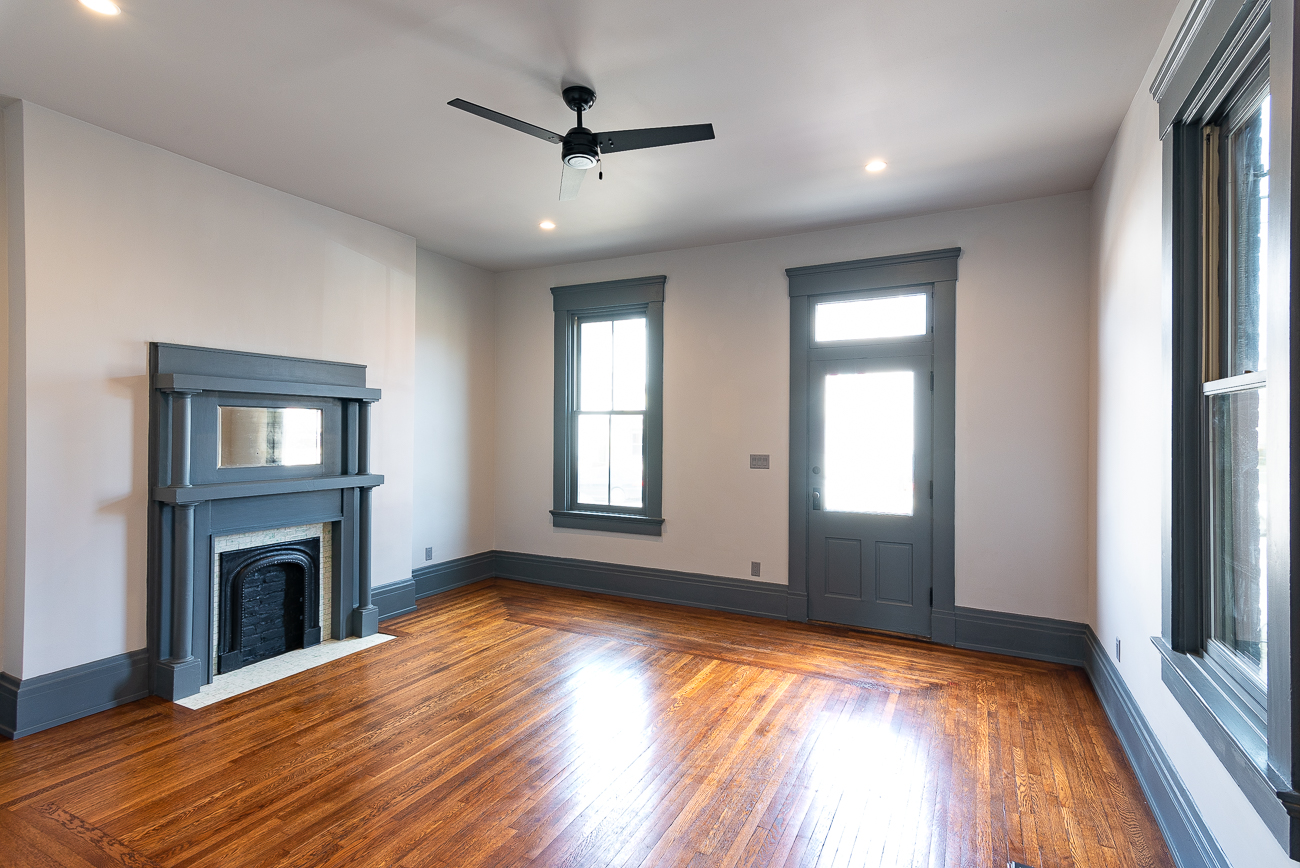1227 Holman Street in Covington is a 2.5-story, 3-bedroom, 2.5-bathroom house that was originally built in the late 1800s. It was recently given a total makeover, and is now listed for $299,000 by Annie Venerable Pivot Realty Group, LLC. / Image: Phil Armstrong, Cincinnati Refined // Published: 3.15.19