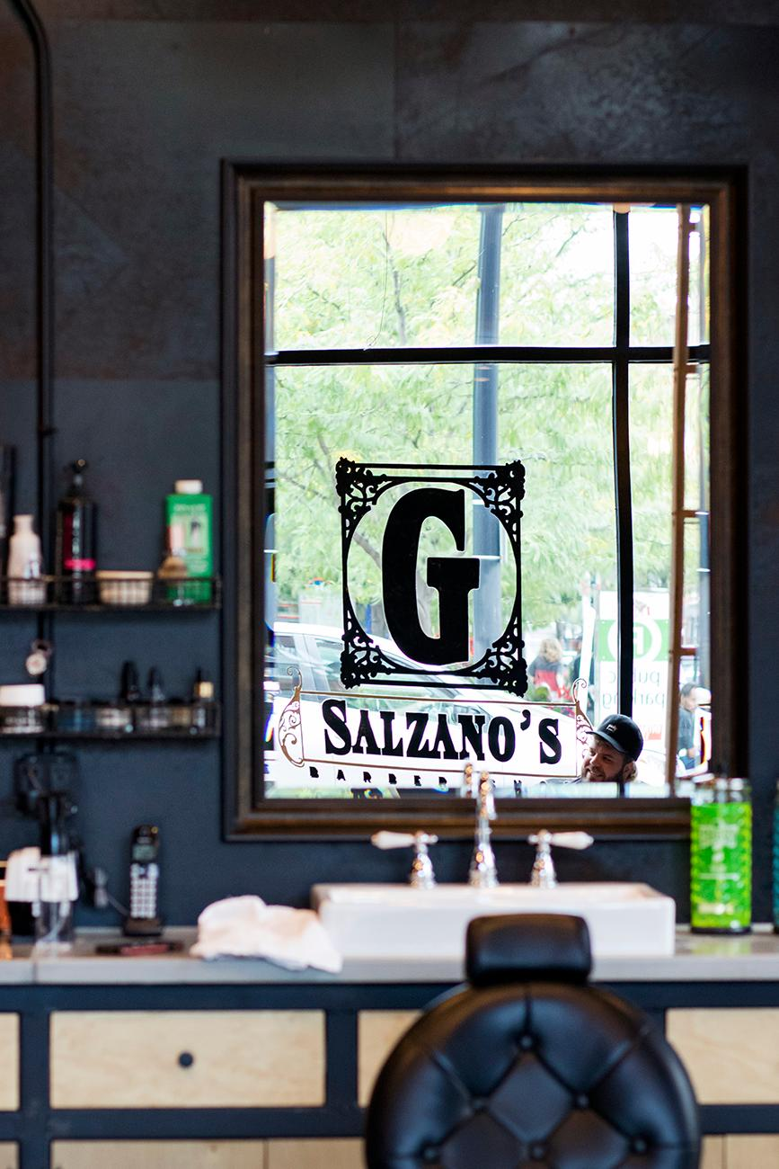 Salzano's Euro-style barbershop also sells shaving kits, accessories, shave creams, and other men's skin care products. You can also have your groomsmen come in to get styled on your big day, too. ADDRESS: 1150 Vine Street (45202) / Image: Allison McAdams // Published: 9.27.18