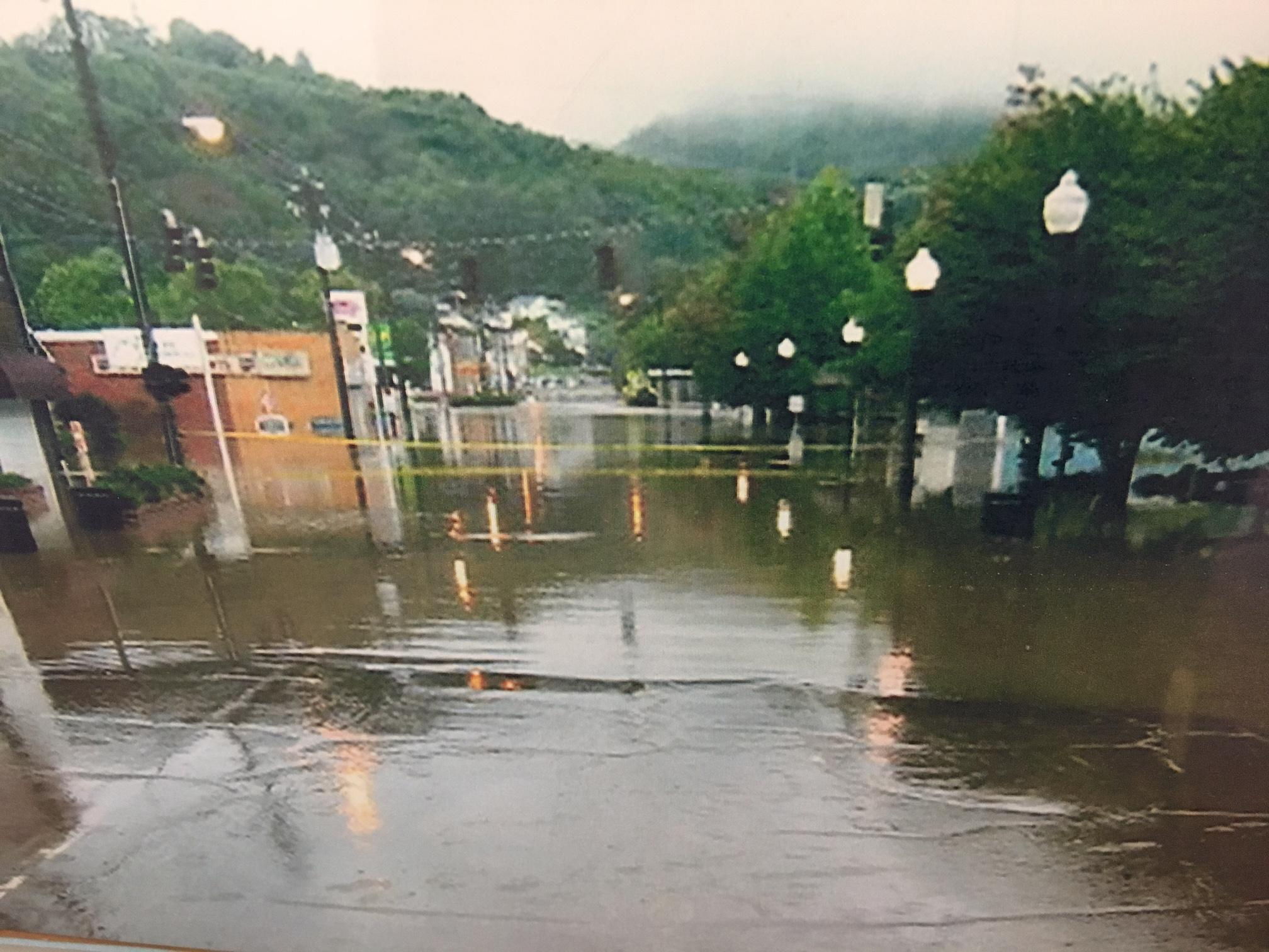 If Hurricane Irma brings a lot of rain to the mountains of Western North Carolina, two Haywood County towns are better prepared than they were in 2004. That's when the remnants of back to back hurricanes flooded Canton and Clyde. (Photo credit: WLOS staff)