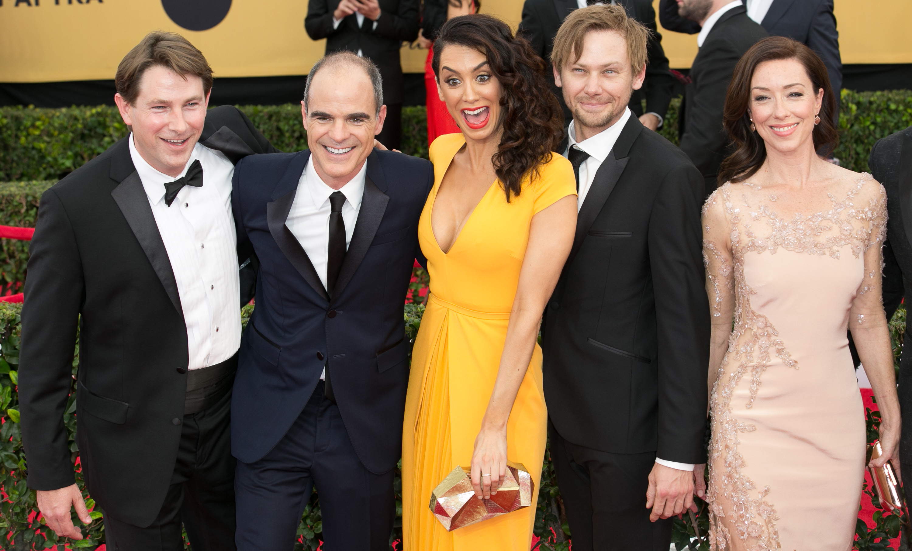 21st Annual SAG (Screen Actors Guild) Awards at Los Angeles Shrine Exposition Center - Arrivals  Featuring: Derek Cecil, Michael Kelly, Mozhan Marno, Jimmi Simpson, Molly Parker, Michael Gill, Jayne Atkinson, Joanna Going and Rachel Brosnahan Where: Los Angeles, California, United States When: 25 Jan 2015 Credit: Brian To/WENN.com
