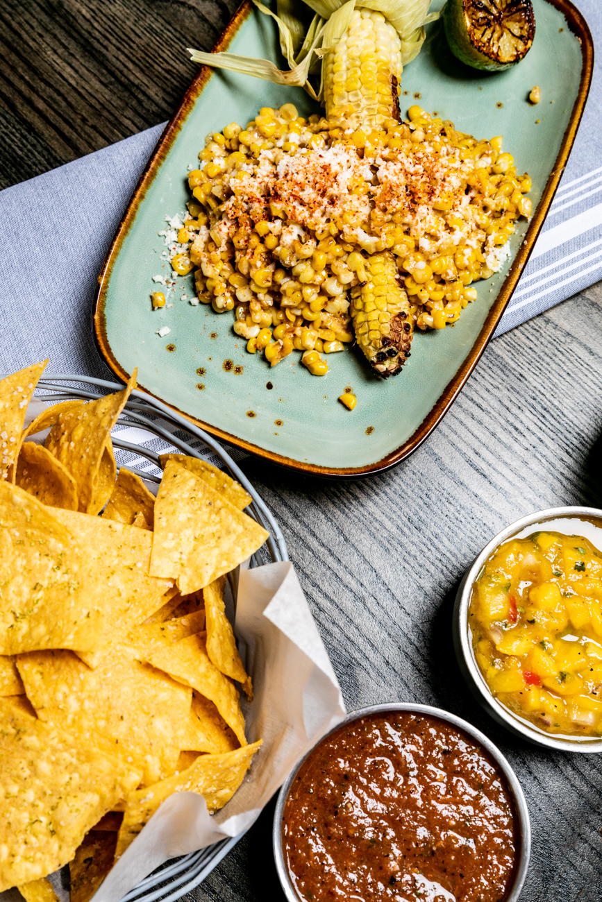 The chips and salsa comes with three types of salsa: roja, verde, and mango habenero{&nbsp;}/ Image: Amy Elisabeth Spasoff // Published:{&nbsp;}1.5.20<p></p>