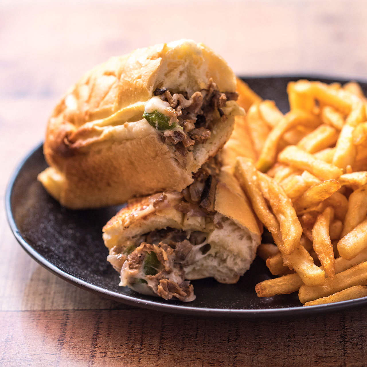 1.	Cheesesteak sandwich from DC Wisey's:{ }Served with grilled onions and mushrooms, provolone cheese, with lettuce, tomato and mayo. (Image: Courtesy Grubhub)