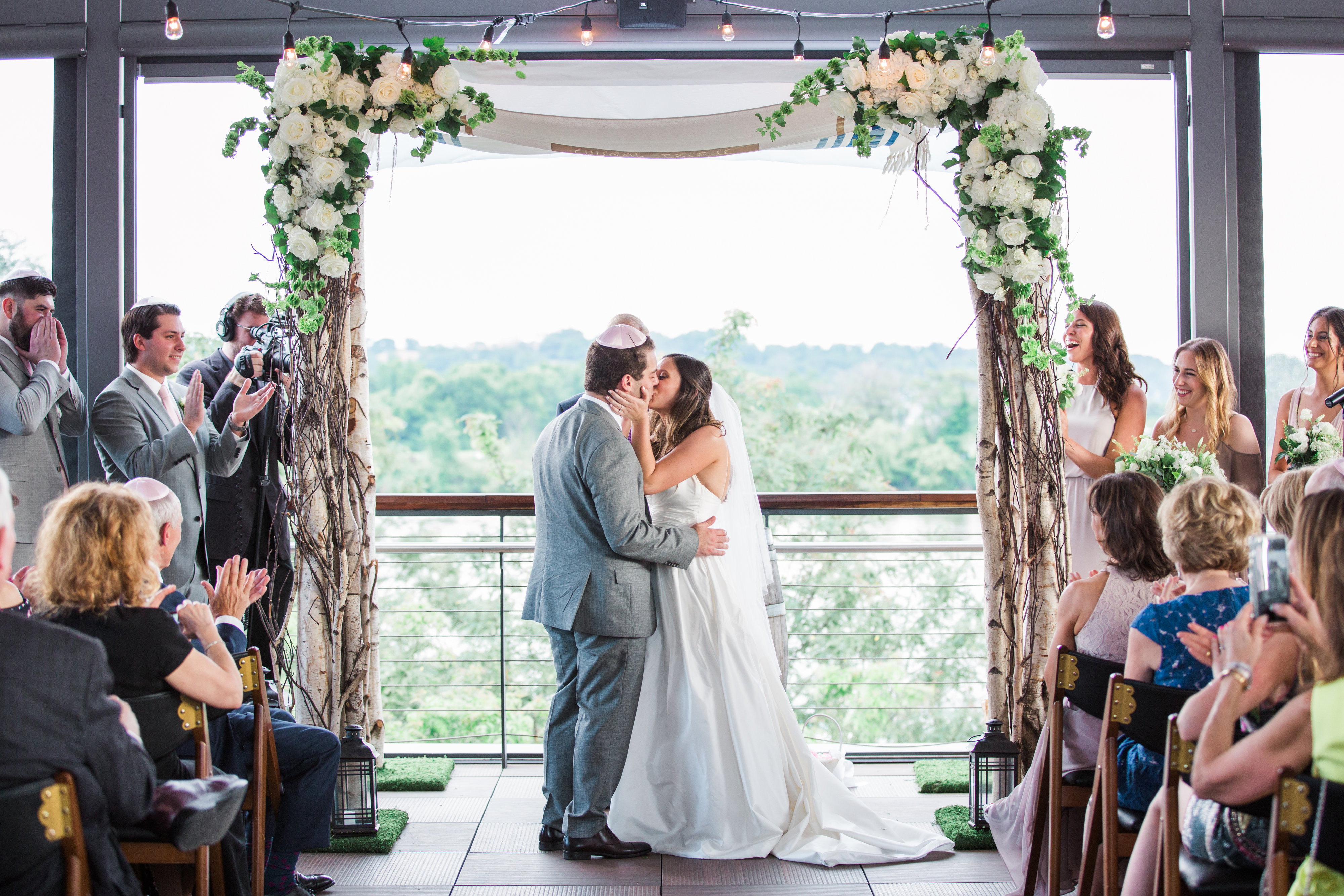 """We definitely splurged getting a videographer but it was so worth it,"" said Melissa. (Image: Birds of a Feather Photography/{ }http://birdsofafeatherphotos.com){ }"