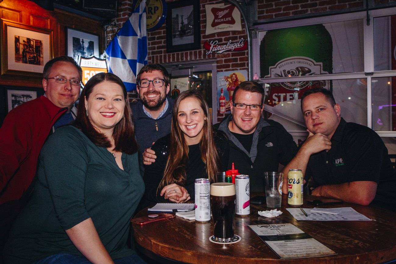 Josh Allor, Christina Hancock, Katherine & Brian Benton, James Bartlett, and Gregory Tisone at Blind Pig{ }/ Image: Catherine Viox // Published: 11.22.18