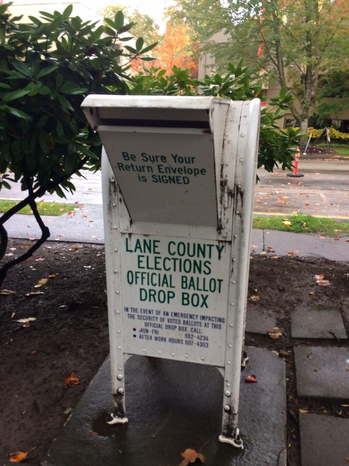 Ballots are due to an official drop box by 8 p.m. on Electin Day. (SBG)