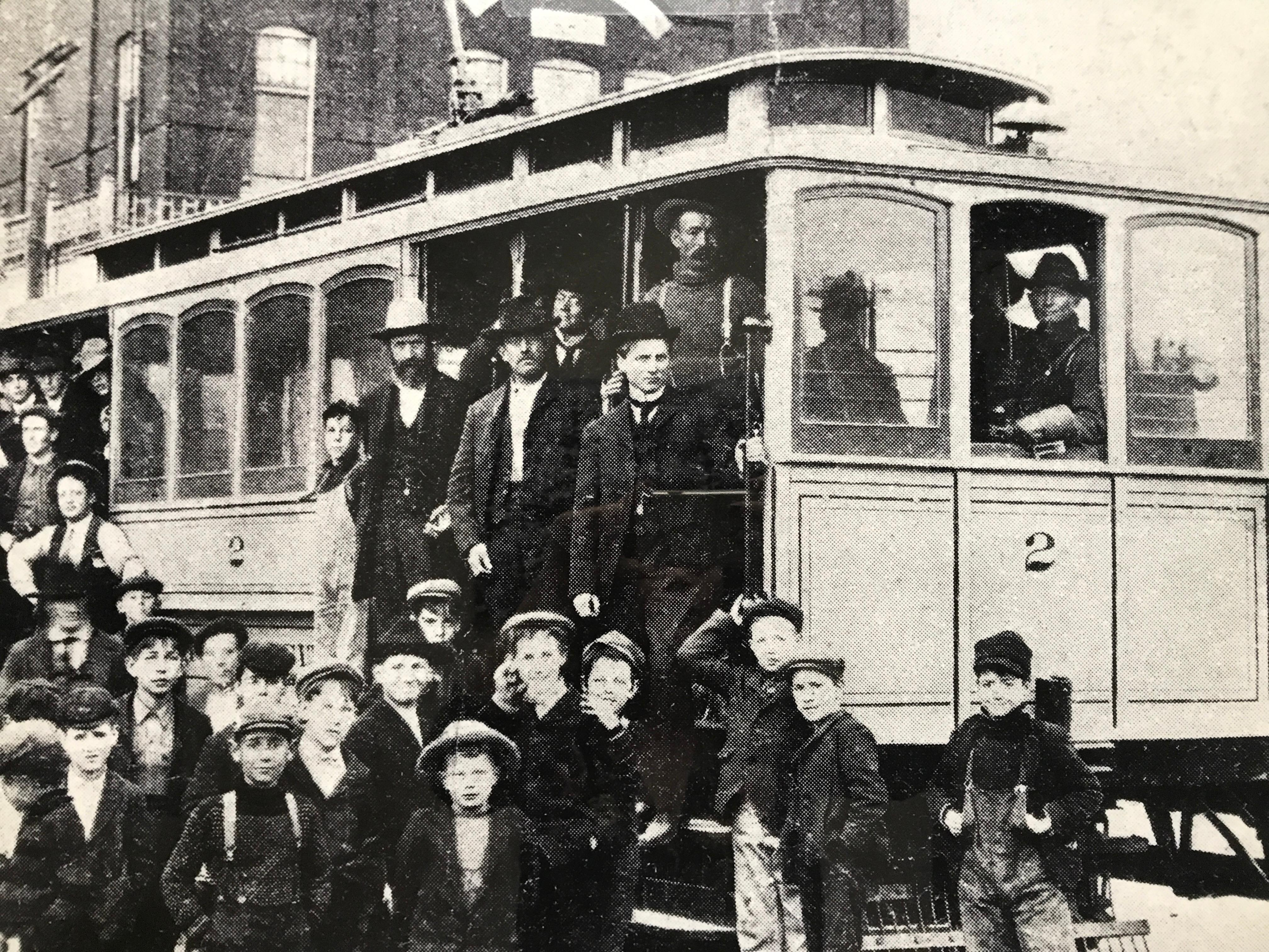 In the early 1900s, the establishment of an electric streetcar system was a clear sign of a city's growth as well as a faith in its potential for future expansion. There was therefore cause for great celebration on Thanksgiving Day, 1904, with the opening of Nevada's first streetcar line, a three-mile route between Reno and the newly founded town of Sparks. (Photo courtesy: Nevada Historical Society)