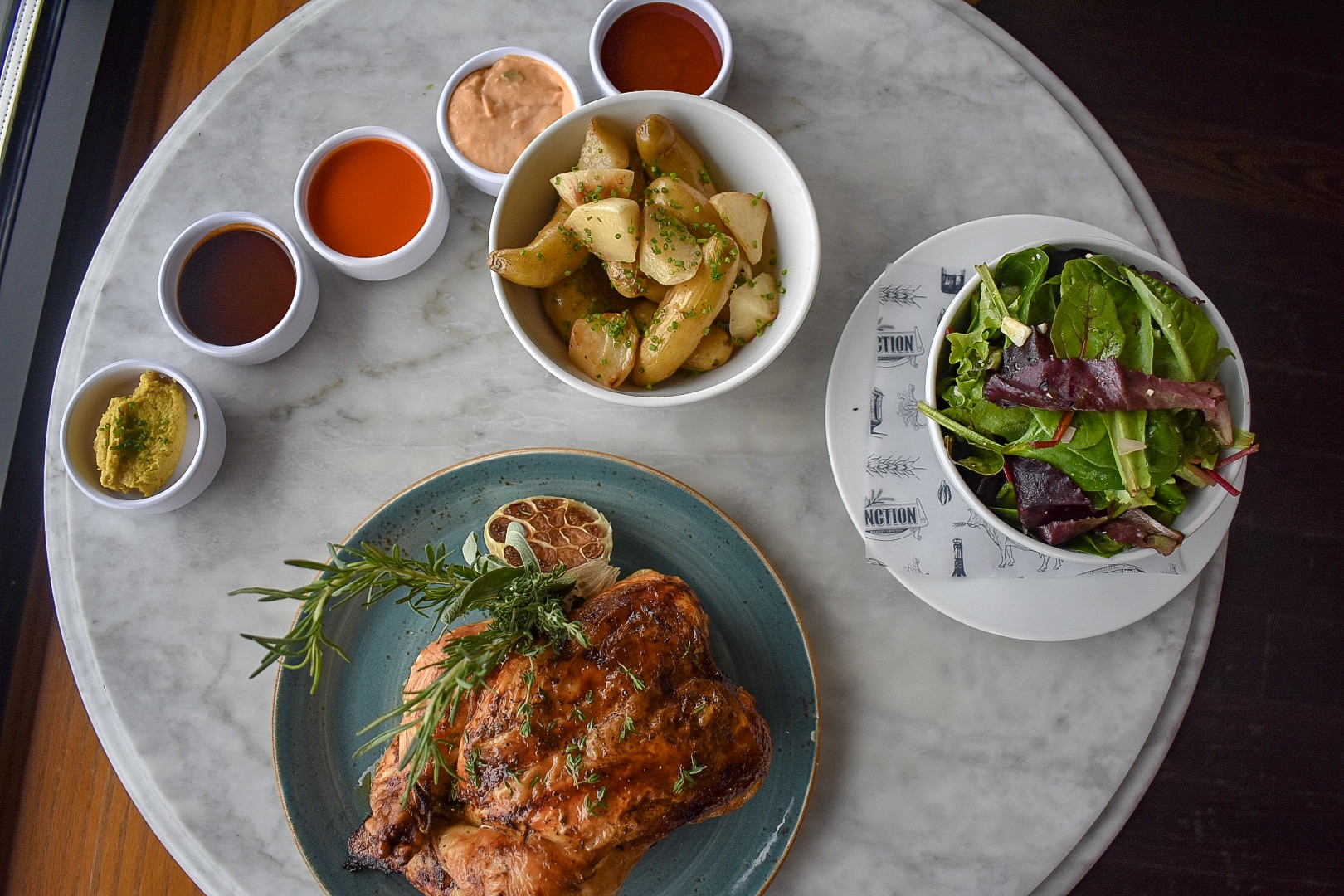A family-style chicken dinner from Junction Bakery & Bistro. (Image: Courtesy Junction Bakery & Bistro)