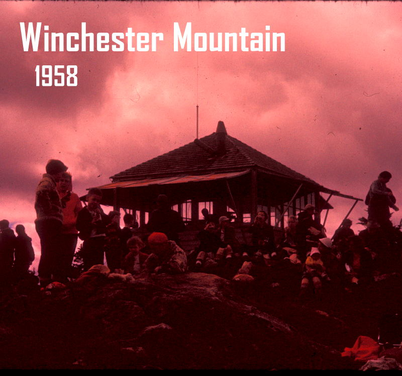 Winchester Mountain Lookout. Image from Oregon Department of Forestry display at 2014 Oregon State Fair. Images collected by department's Forest History Center in Salem, Ore.