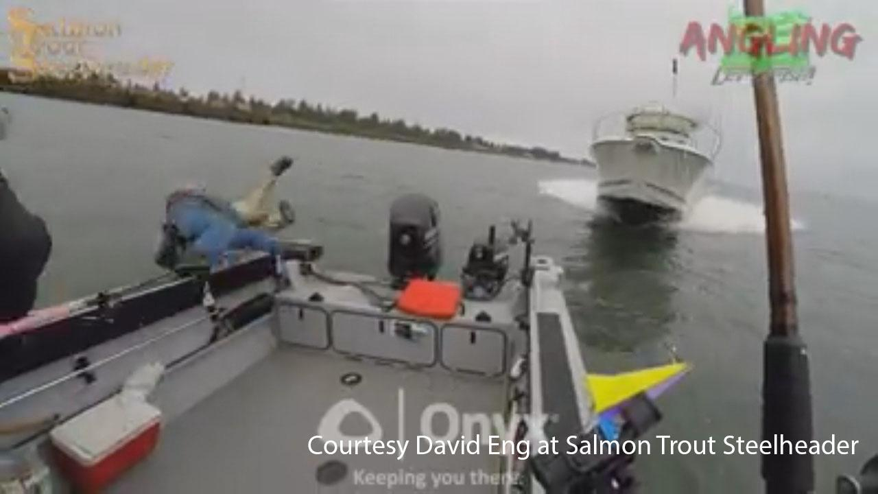 Boat crash - Courtesy David Eng at Salmon Trout Steelheader