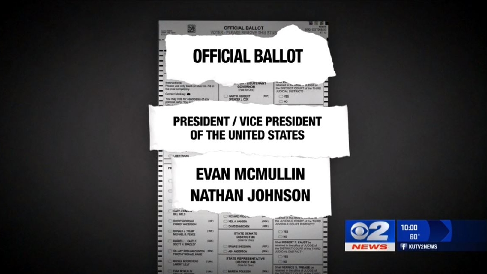 McMullin's running mate on Utah ballot is not his 'actual running mate'