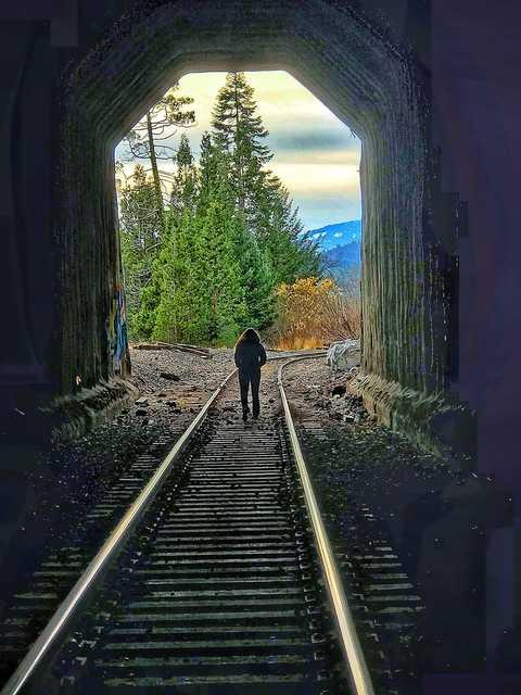 Photo by Kelly AndersenTunnel 13 near Mount Ashland, scene of a 1923 train robbery.